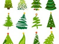 christmas tree material vector | Download free Vector