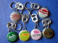 1 Vintage Bottle Cap KeyChain Key Ring by NouveauCompliments