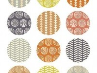 2 inch circles tribal patterns collage sheet printable by huetoo