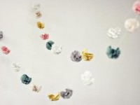 DIY Fabric Flower Garland - Once Wed