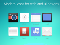 Modern Icons For Web And UI Designs - Freebie No: 91
