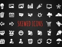 Icons ~ Skewed Icons by Denise's Shop ~ Creative Market