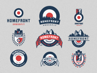 Homefront Crossfit - Logo Mark & Emblem Options by Emir Ayouni