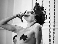 black and white, chains, dirty, duct tape, fetish, - image #15613