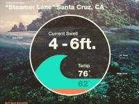 surf swell infographic by Dann Petty
