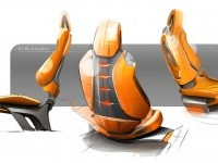 Hyundai Intrado Concept Interior Seats Design Sketches - Car Body Design