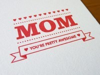 Mom Screen Print by Sarah Phelps