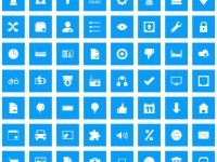 Pixelistica Blue Icons Set — DryIcons.com