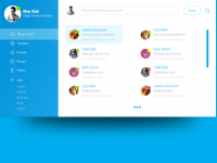 Skype OS X Yosemite App Design Concept on