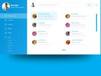 Skype OS X Yosemite App Design Concept on