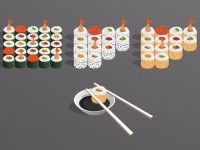 Free Sushi Icons and Abecedary | Dealjumbo.com — Deals from designers, writers and artists
