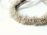 Baby's Breath crown Ivory Bridal circlet Boho bridal by whichgoose