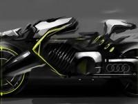 Motorbike sketches on