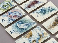 Hungarian paper money on