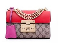 Gucci Padlock GG Supreme Shoulder Bags 409487 Red