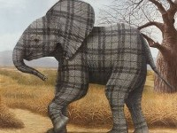 Tartan Animals by Sean Landers