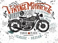 stock-vector-vintage-motorcycle-hand-drawn-grunge-vintage-illustration-with-hand-lettering-and-a-retro-bike-382234237.jpg (450×380)