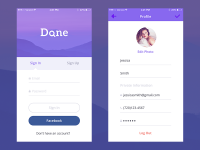 Login/Sign up inspiration for mobile apps — Muzli -Design Inspiration
