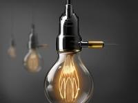 Lamp Socket & T.E Vintage Bulb on