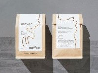 Canyon Coffee packaging - Fonts In Use