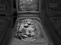 Black and White Photos of Vintage Pinball Machines by Michael Massaia
