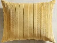 Velvet Striped Gold Lumbar Pillow | Pier 1 Imports