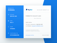 Email Receipt - Day 017 #dailyui by Ennio Dybeli - Dribbble