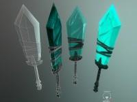 ArtStation - low poly sword, alex shevchuk