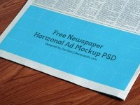 Free Horizontal Newspaper Advertising Mockup - Free Download | Freebiesjedi