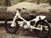 honda C50 custom moped by 56 motorcycles