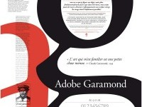 Adobe Garamond, Poster Typography on Inspirationde