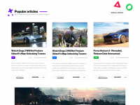 Game news site concept on Inspirationde