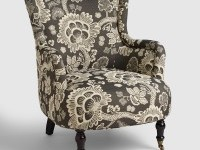 Black and White Floral Reading Chair | World Market
