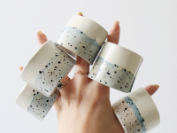 Diy Faux Ceramic Napkin Rings on Inspirationde