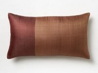 Sari Silk Pillow Cover - Amber Rust/Dusty Rhubarb | west elm