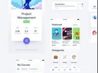 Learnr – Online Courses Educational App UI Kit on Inspirationde