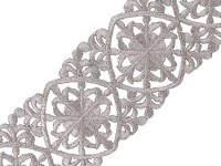 "2 1/2"" Victorian Iron-on Metallic Trim"