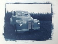 Nicola Williams - Cyanotype toned with coffee printed on bread and...