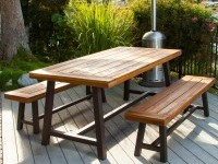 Shop Best Selling Home Decor Carlisle 3-Piece Rustic Iron/Sandblast Wood Acacia Patio Dining Set at Lowes.com