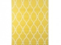 Yellow Lattice Outdoor Rug, 4x6 | Kirklands