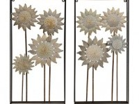 Washed Sunflower Fields Wall Plaque, Set of 2 | Kirklands