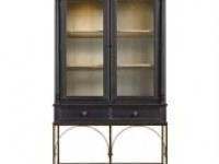 Arrondissement-Salon Cercle Cabinet in Rustic Charcoal - 222-85-10