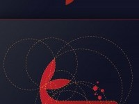 Whale Logo Design with Golden Ratio on Inspirationde