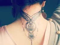 Neck Tattoos for Women on Inspirationde