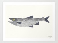 Salmon Art Print by ryotakemasa | Society6