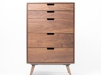 Walnut Chest of Drawers on
