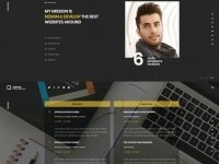 Jonny - One Page Portfolio on Inspirationde