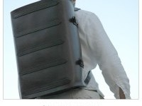 Parachuter Bag XLarge Leather Backpack Aircraft Cabin by deBruir